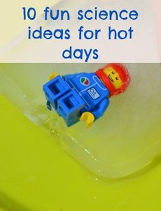 10 fun science activities to help you cool down over summer. #summer #science #summerscience #scienceforkids