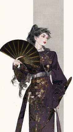 Fantasy Character Design, Character Design Inspiration, Character Art, Korean Art, Asian Art, Hanfu, Era Edo, Anime Art Girl, Manga Girl