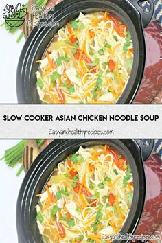 30 Homemade Noodle Soup Recipes That Promise Keep You Amazed – Page 2 – Favorite Family Recipes Lunch Recipes, Crockpot Recipes, Soup Recipes, Health Recipes, Family Recipes, Vegan Noodle Soup, Asian Chicken Noodle Soup, Vegetable Ramen, Healthy Ramen