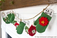Love the take on not only an advent calendar but a garland
