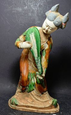 Chinese Tang Dynasty Style Terracotta figurine. ~ 12'' ~