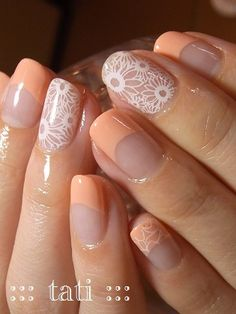 I love the white against the bare nail, the rest I don't like at all.