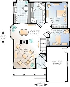 Two Bedroom Cottage House Plan - 21228DR   1st Floor Master Suite, CAD Available, Canadian, Cottage, Country, Metric, PDF, Photo Gallery, Vacation   Architectural Designs
