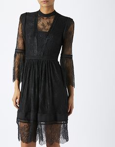 Alluring lace proves itself to be a power player in your new season wardrobe with our Victoria lace dress. Flared sleeves, a high neckline and a lace hem inv...