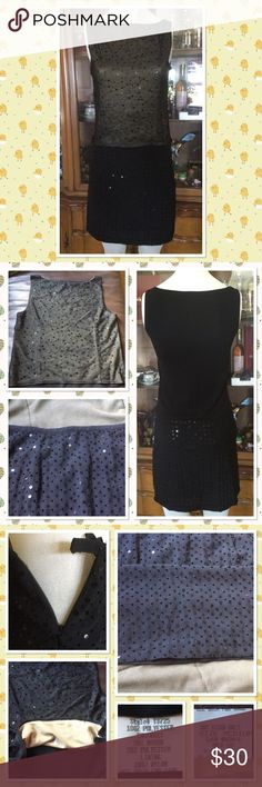 """2pcs sequins dress from Neiman Marcus Beautiful dress purchased from Neiman Marcus few years ago worn couple times in perfect condition size M sleeveless top a little stretch skirt length 19"""" high waist 24-1/2"""" Dry clean only Dresses Mini"""