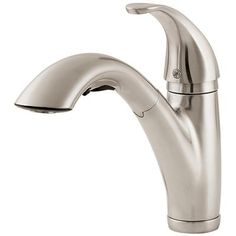 Pfister - Parisa Lead Free Pull-Out Kitchen Faucet in Stainless Steel - GT5347SS - Home Depot Canada