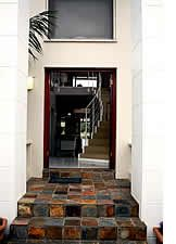 The welcoming entrance to Marina House