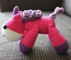 Eenhoorn haken | draadenpapier | Gratis patroon van Little Yarn Friends #haken #eenhoorn #crochet #unicorn