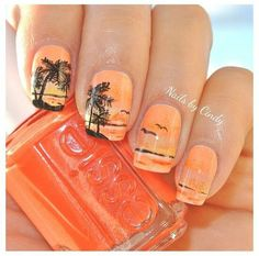 Nagelpflege 130 simple and beautiful nail art designs 2018 just for you Wedding Ideas Fo Pretty Nail Designs, Nail Art Designs, Tree Designs, Nails Design, Beachy Nail Designs, Design Art, Trendy Nails, Cute Nails, Hawaiian Nails