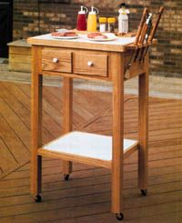 Free Outdoor Grill Cart Plan - Woodwork City - Click on the photo to read the do-it-yourself instructions.