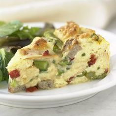 Strata with Asparagus, Sausage and Fontina // Williams-Sonoma Kitchen