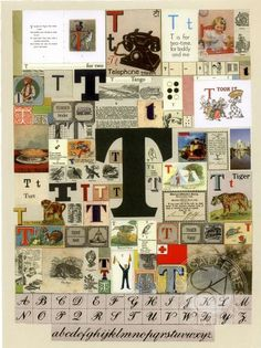 The Letter T Silkscreen Print by Peter Blake