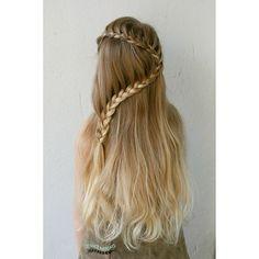 Simple lace braid, harp braid ...  Puoliranskalainen letti , helppo letti-idea, pitkät hiukset, long hair ideas, jenni's hairdays