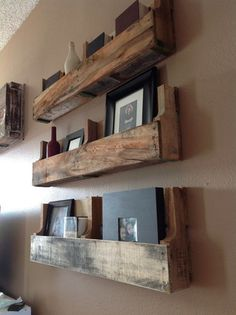 Reclaimed Pallet Shelves ($75 for three)