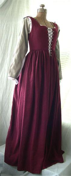 lovely Florentine Red Wool Gown by ~ElegantlyEccentric on deviantART