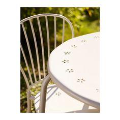 LÄCKÖ Bord+2 stolar, utomhus - vit - IKEA