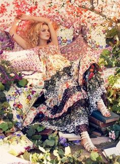❀ Flower Maiden Fantasy ❀ beautiful photography of women and flowers - Steven Meisel photography