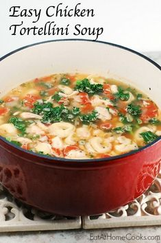 Chicken Tortellini Soup with Kale