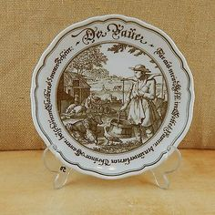 #Hutschenreuther pieroth 1814 plate #farming #village ,  View more on the LINK: http://www.zeppy.io/product/gb/2/182036509190/