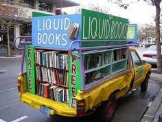 Free Books Bookmobile in Monterrey CA....why oh why did I not see this when I was there?!! Just another reason to love Monterrey!