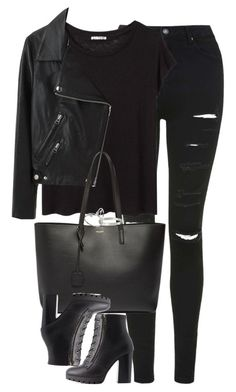 """""""Untitled #1214"""" by lovetaytay ❤ liked on Polyvore featuring Topshop, Acne Studios, Charlotte Russe and Yves Saint Laurent"""
