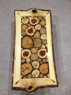 Log Slice Coffee Table with Sassafras White by LiveEdgeWoodcrafts