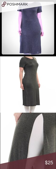 💎COMING SOON💎Short sleeve tunic Coming soon💎💎💎Fashionable and flattering! Look chic and be comfortable. Charcoal gray short sleeve tunic with long side slit. Rayon blend. Made in USA 💎NWT💎 Bellino Clothing Tops Tunics