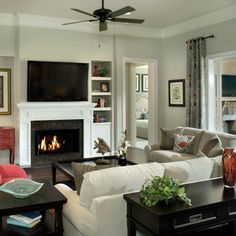 The wall paint is Sherwin Williams 7050 Useful Gray, and the trim paint is Sherwin Williams 7008 Alabaster.