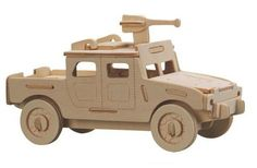 Wood Vehicle Model 3D Puzzle