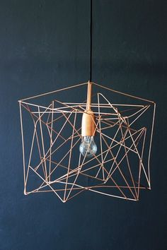 Asymetric Shiny Copper Lampshade - View All - Lighting