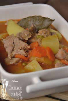 Cocinando con Kisa: Guiso de carne de cerdo con patatas (Thermomix)