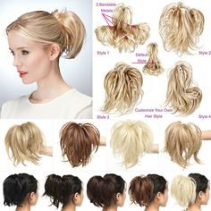 Hair stuff Short Straight Layered Bendable Ponytail Jaw Claw Clip In Hair Extension TA Ponytail Hair Extensions, Synthetic Hair Extensions, Human Hair Extensions, Curly Ponytail, Short Human Hair Wigs, Human Hair Clip Ins, Bun Hair Piece, Hair Pieces, Crochet Braids Hairstyles