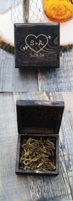 Customized Engraved Wooden Heart Box | Made on Hatch.co