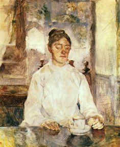 Henri de Toulouse-Lautrec The Artist's Mother, The Countess Adèle De Toulouse Lautrec At Breakfast 1881-1883