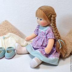 Вальдорфская игрушка ручной работы. Ярмарка Мастеров - ручная работа. Купить Куколка для Катерины, 34 см. Handmade. Бледно-сиреневый