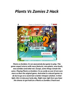 New Plants vs Zombies 2 hack is finally here and its working on both iOS and Android platforms. Apple Plant, Point Hacks, Play Hacks, Zombie 2, Plants Vs Zombies, Test Card, Hack Online, Mobile Game, Free Games