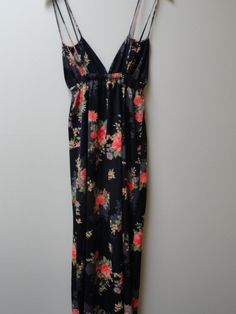 Floral Maxi Dress Festival Hippie S M Vintage by prettycatvintage, $28.00