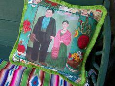 Vintage Frida Kahlo Image Pillow Frida and by RanchoRomantico