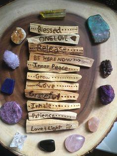Crystals and Wood Natural Healing, Crystal Healing, Chakras, Meditation, Smudge Sticks, Crystal Grid, Book Of Shadows, Custom Wood, Pyrography
