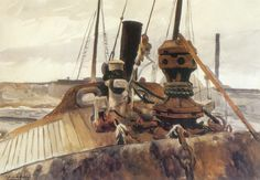Hopper - Bow of Beam Trawler Widgeon, 1926