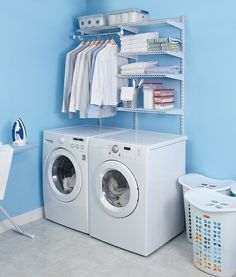 Having trouble designing an efficient laundry room? Here are 7 laundry room design ideas that'll show you how to create a functional and cozy place to do the laundry. Laundry Closet, Small Laundry Rooms, Laundry Room Design, Laundry Room Island, Laundry Room Organization, Laundry Organizer, Organizing, Closet System, Küchen Design