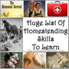 Huge List of Homesteading Skills to Learn Frugal Homesteading - The Homestead Survival .Com