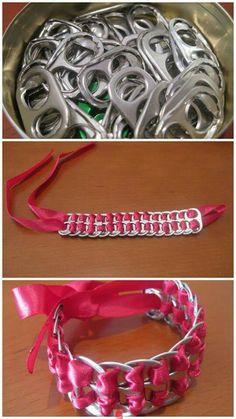 armband van lipjes van blikjes frisdrank