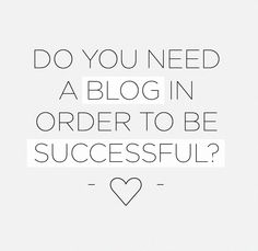 Blogging & Success