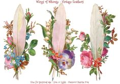 Wings of Whimsy: Vintage Feathers & Flowers
