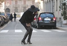 Love the shoes and hat.