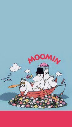 Cartoon Wallpaper, Moomin Wallpaper, Iphone Wallpaper, Les Moomins, Moomin Valley, Tove Jansson, Cartoon Sketches, Illustrations And Posters, Film