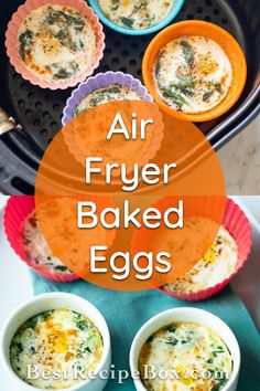Check out our Air Fryer Baked Eggs recipe. It's a really good low-carb breakfast to satisfy you. Low Carb Breakfast, Healthy Breakfast Recipes, Healthy Recipes, Baked Eggs, Air Fryer Recipes, Best Recipe Box, Best Air Fryers, Air Fryer Healthy, Everyday Food