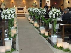 Could be done with flameless candles Wedding Ceremony Decoration