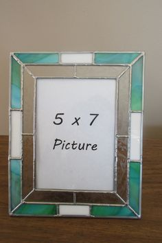 Stained Glass Picture Frame by LZStainedGlass on Etsy